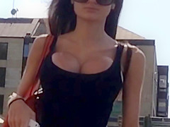 big huge tits on a skinny chick candid