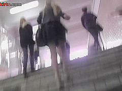 Free upskirt video with a chick in a g-string