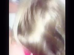 Cum in room mates hair.