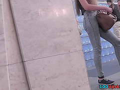 Accidental upskirt video shows hottie's athletic butt