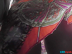 Bubble ass looks fuckable in best upskirt video
