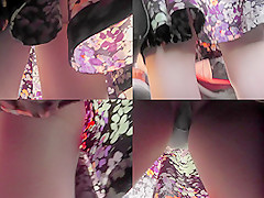 Real upskirts video shows an amazing skinny butt