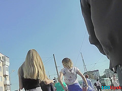 Best upskirt video of a skinny ass bimbo with a thong