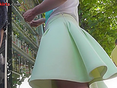 Upskirt video featuring a chick with athletic arse