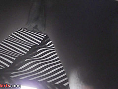 Sheer panty of a sexy lady seen in free upskirt video