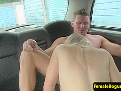 milf taxidiver doggystyled by lucky passenger