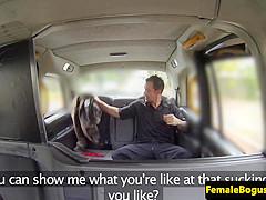 Bigtit british cabbie gets a mouthful of cum