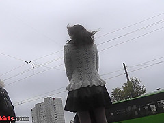 Best upskirt video of a redhead chick with a thong