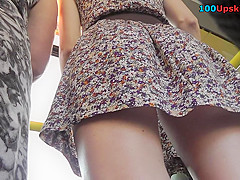 Hot g-string redhead video made in the public space
