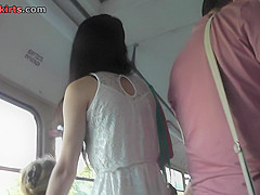 Hot candid upskirt vid show amazing skinny ass