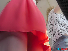 Best upskirt video of a plump hottie with g-string