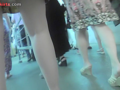 Best upskirt video of a blonde with g-string panties