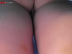 Hot g-string shot of chick's ass in upskirt video