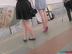 Upskirting video show amazing skinny ass and g-string