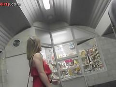 Best upskirt video of an auburn-hair gal with g-string