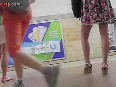 Best upskirt video of a brunette with classic panties