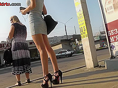 Voyeur upskirt vid of a wonderful blonde's ass