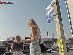 Voyeur upskirt vid of a wonderful blonde's ass