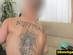 office amateur doggystyled on casting couch
