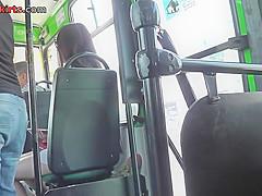 Upskirting voyeur filmed the bubble ass of a brunette