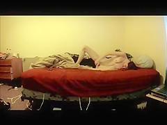 My s ister masturbating on bed