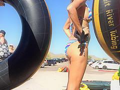 Bikini UNDERBOOB by the River