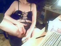 My mom masturbating at PC