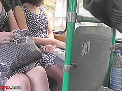Upskirting voyeur filmed the skinny ass of a hot gal