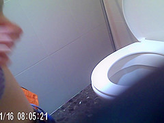 angel in the toilet alone with my cam