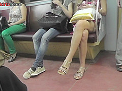 Best upskirt video of a brown haired lassie in g-string