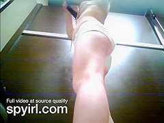 spying on sun tanning blonde teen