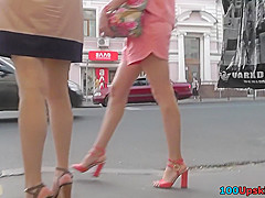 Yummy ass of a lassie seen in real upskirt movie