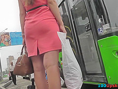 Bubble-ass angel wears sexy g-string in upskirt video