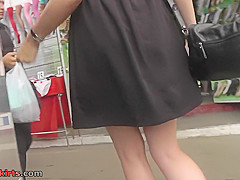 Best upskirt video of a naughty lassie with a thong