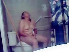 Caught my s ister masturbating in toilet