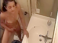 my cousin masturbates in bathroom