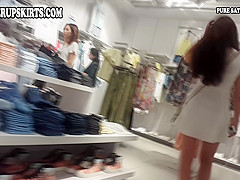 upskirt clip of girl with long hair