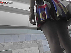 flabby ass plumper filmed in sexy upskirt video