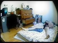 Hidden cam caught ###ter masturbating