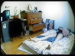 Hidden cam caught ###ter masturbating