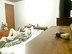 my mum masturbates on bed hidden cam