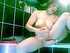 great view of my mom masturbating in bath room