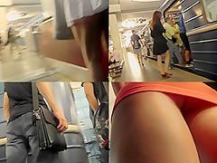 Upskirt vid of slim babe's beautiful bubble ass