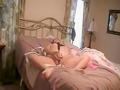 hidden cam my mum fingering on bed