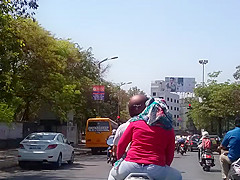 indian hot ass girl on bike