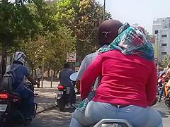 Indian hot ass girl on bike