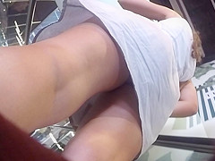 another upskirt at escalator