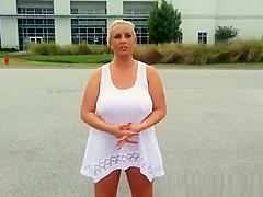 Big tits woman wet t shirt