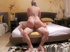 Big ass woman rides her man's dick