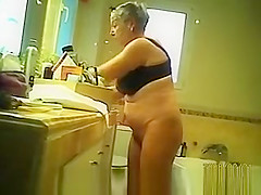 Granny in bathroom